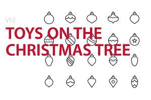 40  Christmas tree toys UI icons