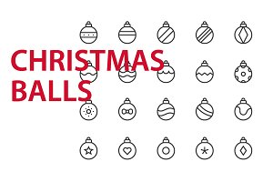 20  Christmas balls UI icons