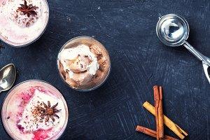 Vanilla cherry ice cream