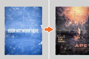 Distressed Poster Mockup Templates