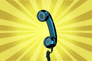 retro handset pop art background