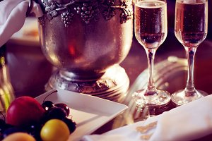 Still life, romantic dinner