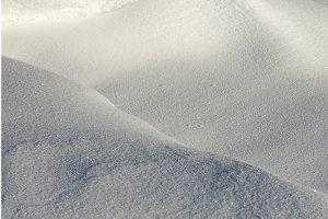 Deep snowdrifts
