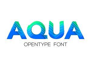 AQUA - OTF colour font