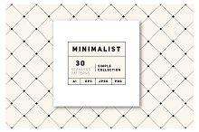 Minimalist Seamless Patterns Set
