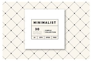 Minimalist Seamless Patterns Set