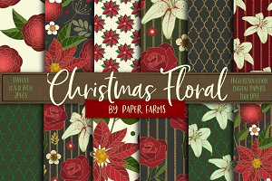 Christmas floral backgrounds