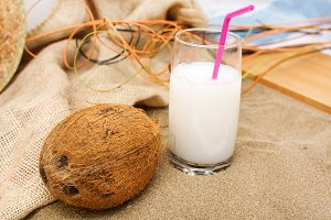 coconut on summer