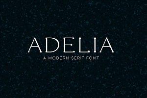 Adelia - A Modern Serif Font