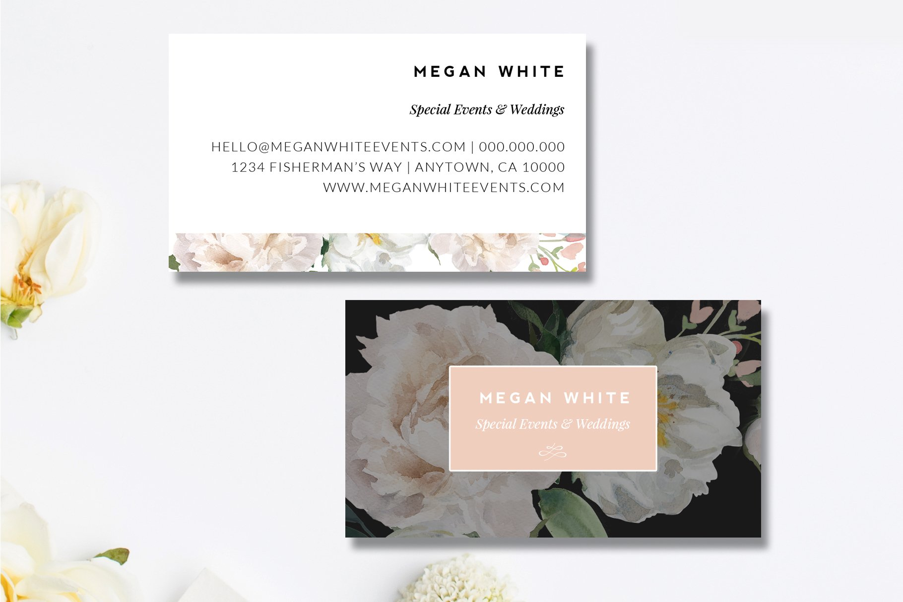 Wedding Planner Business Card ~ Business Card Templates ~ Creative ...