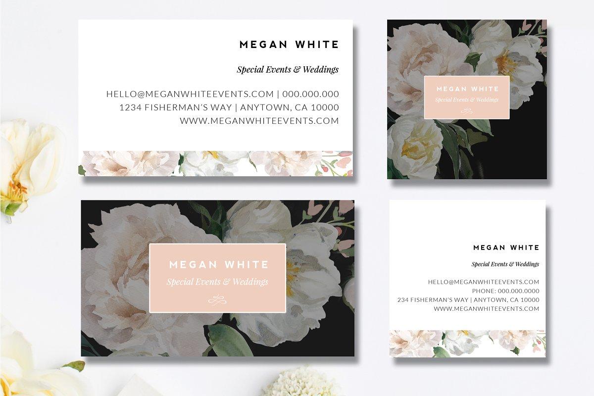 wedding planner business card  creative business card