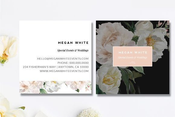 wedding planner business card business card templates creative market - Wedding Planner Business Cards
