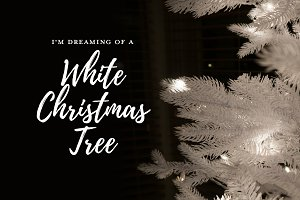 White Christmas Tree Photos