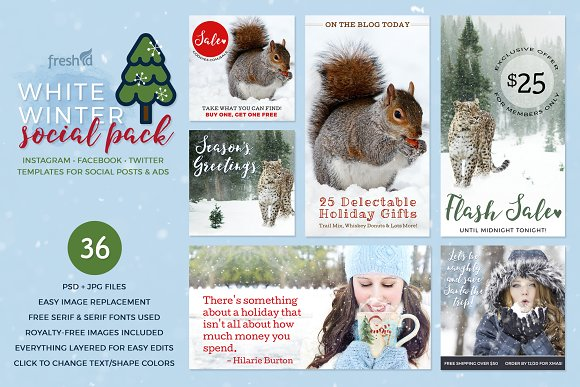 White Winter Social Media Pack