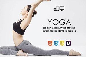 Yoga - Health & beauty Html Template