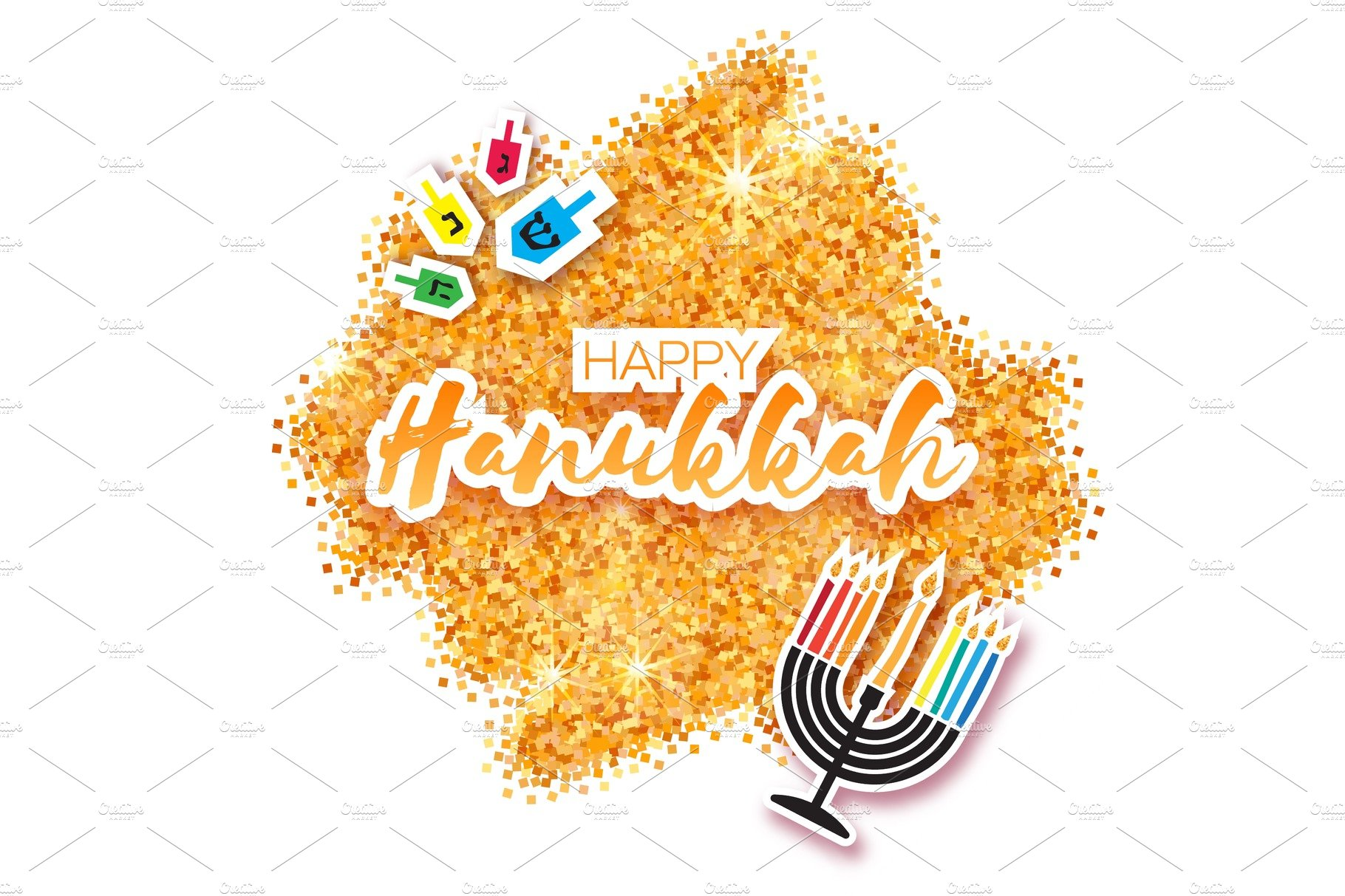 Colorful happy hanukkah greeting card jewish holiday with menorah colorful origami happy hanukkah greeting card kristyandbryce Images