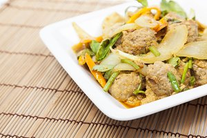Fried pork curry