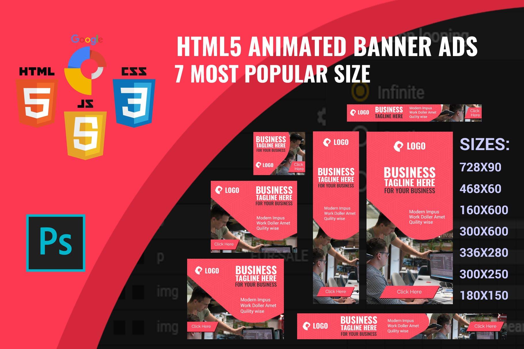 HTML5 adv banner template ~ HTML/CSS Themes ~ Creative Market