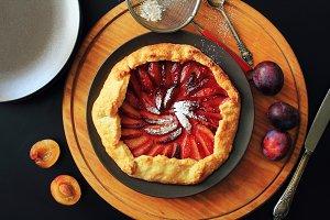 Delicious fresh  plum galette
