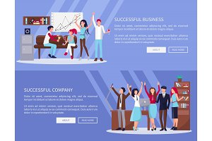 Successful Business &Company Vector Illustration