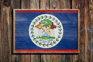 Wooden Belize flag