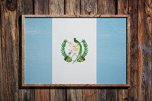 Wooden Guatemala flag