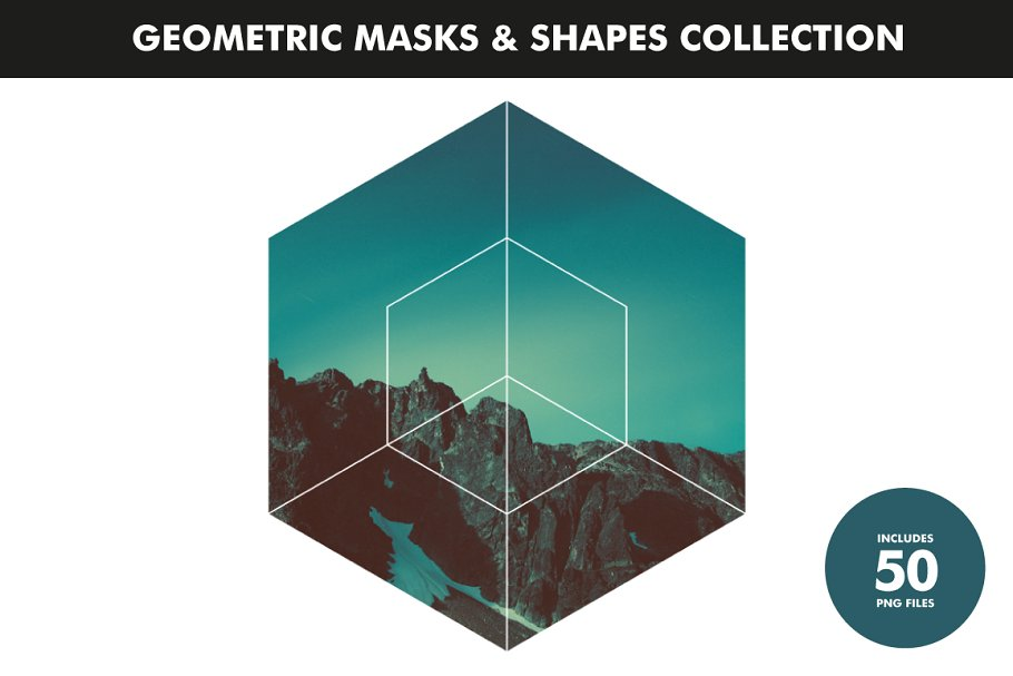 Geometric Masks & Shapes Collection