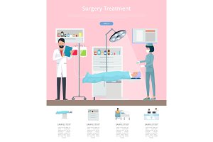 Surgery Treatment Service Vector Illustration