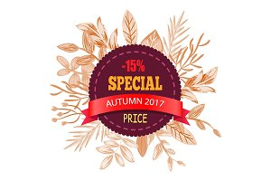 Special Autumn Price 2017 on Vector Illustration