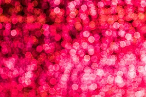 Blur bokeh red unfocused Christmas lights background