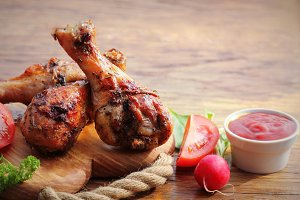 Grilled chicken legs