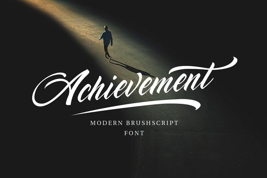 Achievement Brush Calligraphy Font