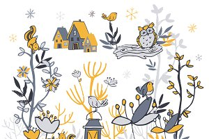 Winter Woodland Clipart