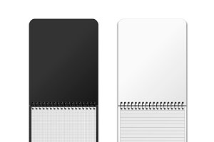 Vertical spiral notebooks with grids