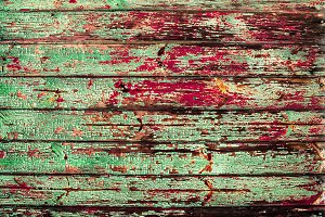 Green red vintage timber background