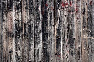 Black red old timber wooden