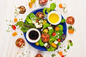 Healthy salad with dressing