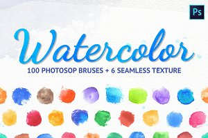 Watercolor brushes and styles