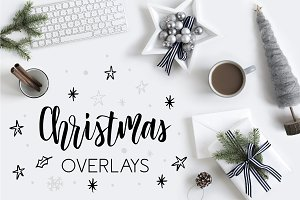 50% *SALE* Christmas Overlays