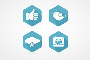 Vector social icons set.
