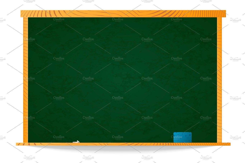 Empty green school chalkboard ~ Objects ~ Creative Market