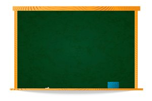 Empty green school chalkboard