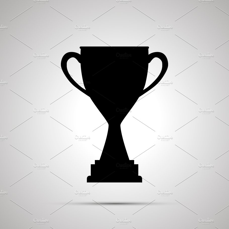 Simple Black Icon Of Winner Cup Icons Creative Market