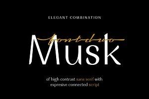 Musk Elegant Font Duo