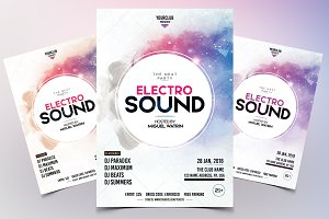 Electro Sound - Party PSD Flyer