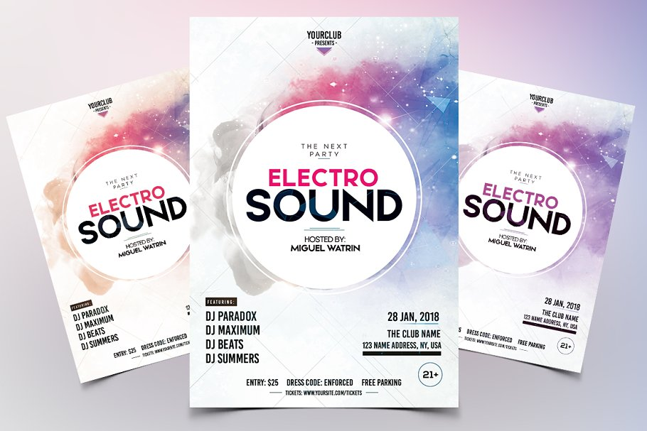Electro Sound - Party PSD Flyer
