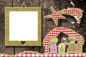 Christmas photo frame greetings card