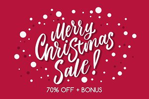 BIG Christmas SALE. 70% off + BONUS.