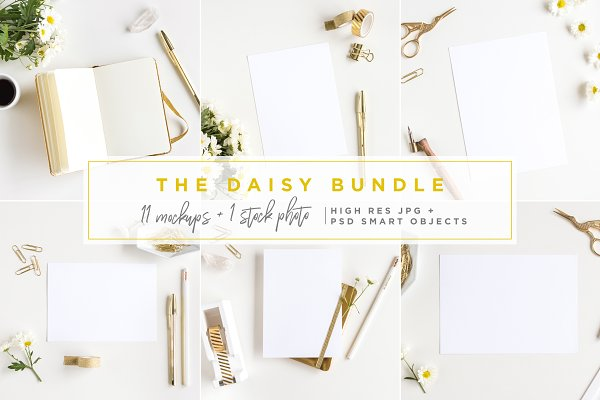 The Daisy Bundle - 12 Mockups +phot…