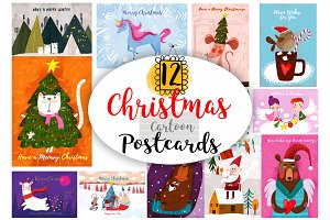 12 Christmas Postcards